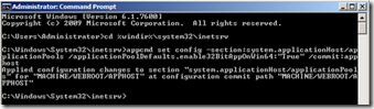 appcmd-set-config-section