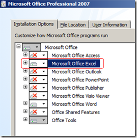 install-office-excel-installation-options