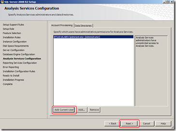 install-sql-Analysis-Services-Configuration-screen