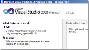 install-visual-studio-custom