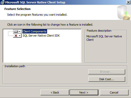 how to connect a client to a server 2008