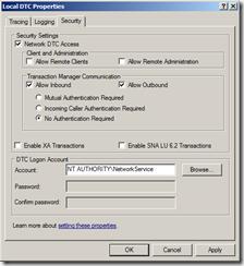 Distributed-Transaction-Coordinator-Security-tab