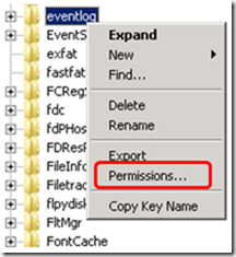Figure 1 - The Event Viewer with the Custom Event Log visible