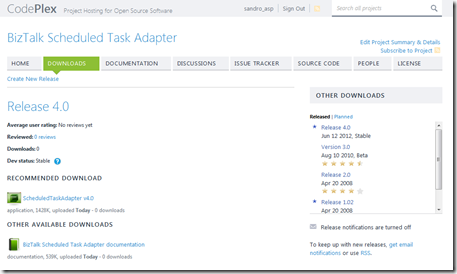 codeplex-BizTalk-Scheduled-Task-Adapter-page
