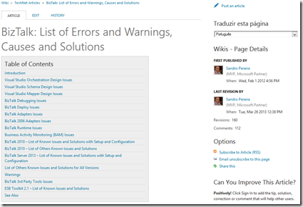 BizTalk-List-Errors-Warnings-Causes-Solutions-techNet-Wiki-Article