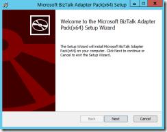 BTS-2013-Adapter-Pack-16-Welcome-Microsoft-BizTalk-Adapter-Pack(x64)-Setup-Wizard-screen