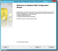 BTS-2013-Database-Mail-Welcome-Database-Mail-Configuration