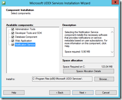 BTS-2013-UDDI-03-Component-Installation-screen
