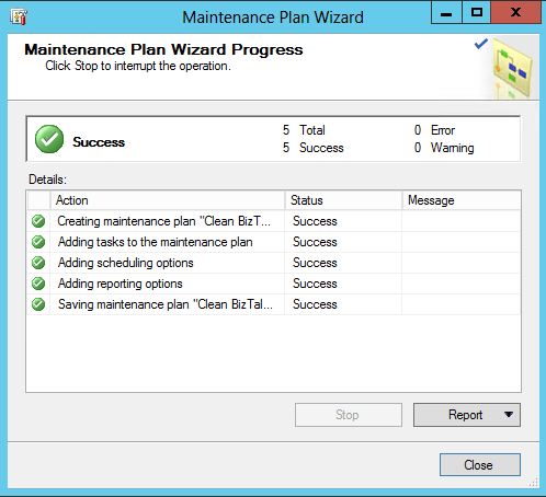 How To Create A Maintenance Plan To Delete Biztalk