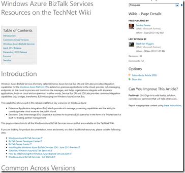 Windows-Azure-BizTalk-Services-Resources-TechNet-Wiki