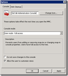 MMC-console-properties