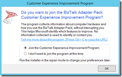 100-BizTalk-Server-2013-R2-Adapter-pack-customer-experience-improvement-program