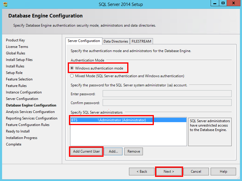 BizTalk Server 2013 R2: Installation and Configuration – Install SQL