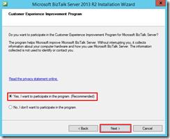 58-BizTalk-Server-2013-R2-installation-customer-experience-improvement-program-screen