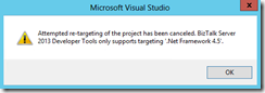 re-targeting-Visual-Studio-BizTalk-Projects-error