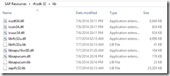 SAP-rfcsdk-7.2-32-bit-lib-Resources
