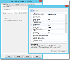 WCF-SAP-Transport Properties-adn-URI-Windows
