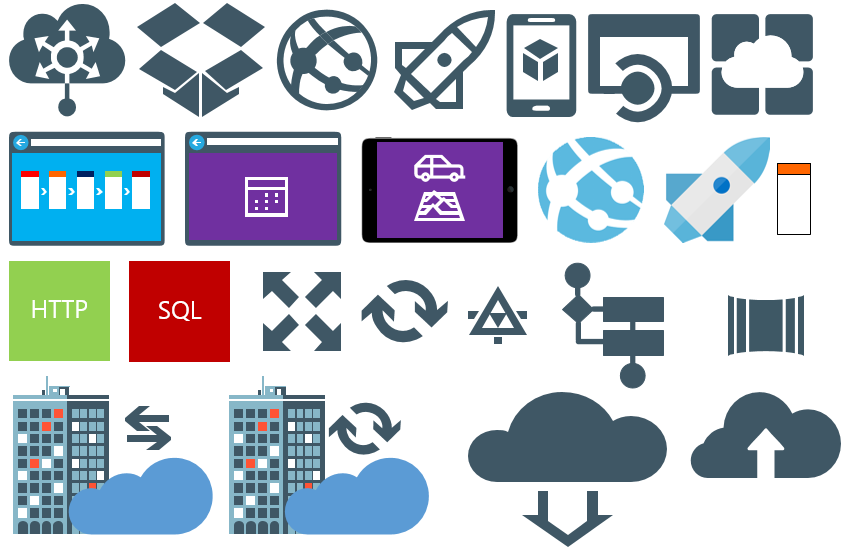 Collection of Microsoft Integration Stencils for Visio 2013