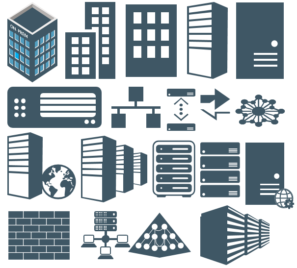 Collection Of Microsoft Integration Stencils For Visio