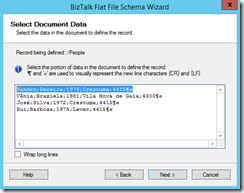 05-BizTalk-Flat-File-Schema-Wizard-Select-Document-Data-Page