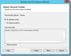 07-BizTalk-Flat-File-Schema-Wizard-Select-Record-Format-Page