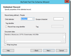 08-BizTalk-Flat-File-Schema-Wizard-Delimited-Record-Page