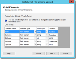 12-BizTalk-Flat-File-Schema-Wizard-Child-Elements-Page-line