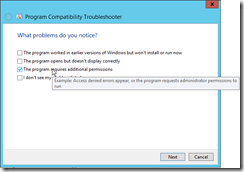 Visual-Studio-Troubleshoot-compatibility-problem-notice