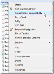 Visual-Studio-Troubleshoot-compatibility